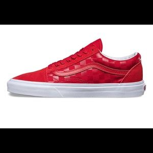 a926b02f26 Vans Shoes - Vans Old Skool - Red Checkered Reversed
